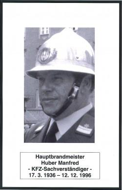 Sterbebilder Huber Manfred