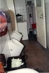 Toillette und Waschraum für den Verwalter